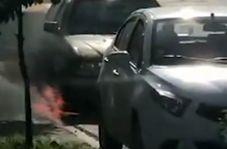 اقدام دیوانهوار یک شهروند مقابل آتشنشانی چالوس