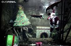 بابانوئلهای دریایی که کریسمس را تبریک میگویند!