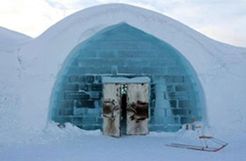 هتلی متفاوت در سوئد از جنس یخ + فیلم