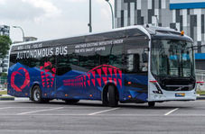 آزمایش اتوبوس خودران ولوو در دانشگاه نانینگ سنگاپور
