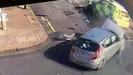 لحظه تصادف شدید خودروی پلیس با چند خودرو!