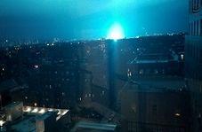 شب نیویورک به ناگهان آبی و نورانی شد