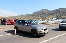 جلوگیری از ورود خودروها با پلاک غیربومی در ورودی رشت در ابتدای جاده تهران