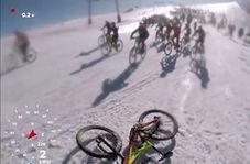 حادثه هنگام پایین آمدن دوچرخه سواران از کوه آلپ