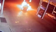 آتش سوزی عمدی در پمپ بنزین