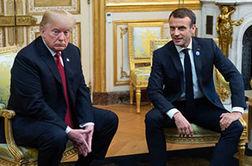 عکس العمل رئیس جمهور فرانسه در مقابل رفتار سرد ترامپ