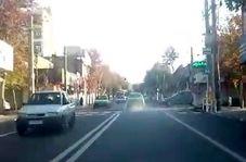 تردد تاکسی عجیب و دودزا در سطح شهر!