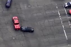 آتش گرفتن خودرو پس از تعقیب و گریز