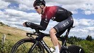 کله معلق زدن وحشتناک دوچرخه سوار در مسابقه+ فیلم