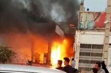 آتشسوزی در پمپ بنزین شهر رامهرمز