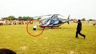 خطری که از بیخ گوش خلبان هلی کوپتر گذشت!