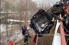 نجات راننده کامیون