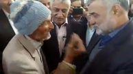 برخورد قابل تامل پیرمرد طبسی با وزیر جهاد کشاورزی