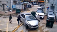 وقتی پدر مست، پارککردن خودرو به دختر خود یاد میدهد!