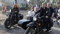 موتورسواری پوتین در فستیوال موتورسواران در کریمه
