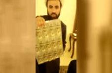 روحانی قلابی لبنانی که بین مردم دلار پخش میکرد