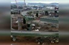 لحظه دیدنی تخریب یک پل