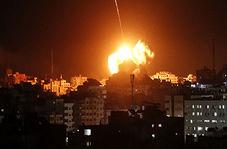 پرواز موشکهای فلسطین بر فراز شهرکهای صهیونیست نشین