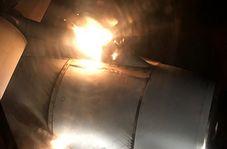 تماشای موتور آتش گرفتن هواپیما از دید مسافران