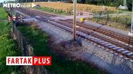 عبور نفسگیر دوچرخه سوار از مقابل قطار!