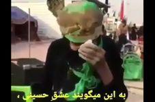 اشکهای مادر ۹۹ ساله عراقی در مسیر پیادهروی اربعین