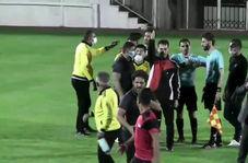 درگیری با داور در لیگ دسته دوم