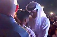 استقبال امیر قطر از بازیکنان تیم ملی فوتبال کشورش