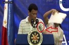 سوسک سخنرانی رئیس جمهور فیلیپین را قطع کرد