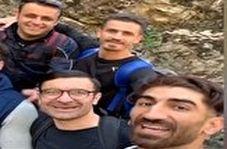 طبعیت گردی بازیکن استقلال و پرسپولیس با هم تیمی های سابق