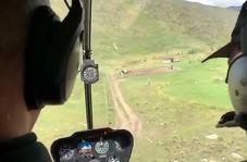 ثبت لحظه سقوط هلیکوپتر توسط مسافران!