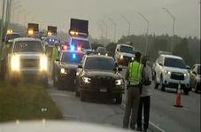 زیر گرفتن یک پلیس پس از تصادف دو خودرو با یکدیگر