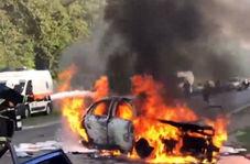 تصادف شاخ به شاخ، عاقبت رانندگی جنون آمیز در لاین مخالف