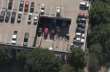 فروریختن یک پارکینگ در آمریکا + فیلم