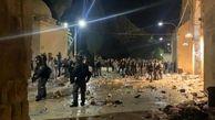 هجوم اشغالگران صهیونیست به مسجد الاقصی