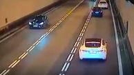 مرگ یک راننده متخلف بر اثر تصادف شاخ به شاخ در تونل+ فیلم