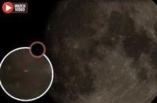 پرواز یوفو روی ماه!
