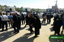 فیلم/ اشتیاق زائران اربعین حسینی در مرز خسروی (سه راهی نصرآباد)