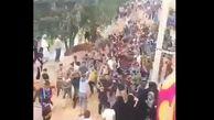 پایکوبی و شعرخوانی جوانان عرب خوزستان هنگام مقابله با سیل