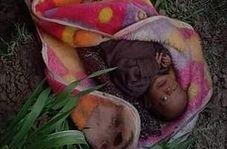 کشف نوزاد دختر زنده به گور شده در هندوستان!