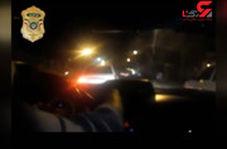 تعقیب و گریز شبانه پلیس و راننده پراید در خیابانهای تهران
