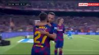 گل سوم بارسلونا به رئال بتیس توسط کارلوس پرز