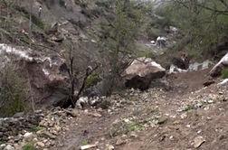 فیلم/ سقوط سنگ در سوادکوه در اولین روز از عید نوروز +جزییات