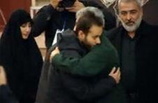 فرزند شهید سپهبد سلیمانی در آغوش فرمانده جدید نیروی قدس سپاه