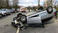 پرت شدن زن راننده به بیرون از خودرو هنگام تصادف