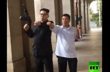 حضور رهبران کره شمالی و فیلیپین با اسلحه در خیابانهای هنگکنگ