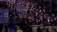 مشعل باران بارسلونا توسط جدایی طلبان کاتالانها