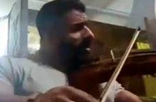 ویولن نوازی و خوانندگی هادی چوپان قهرمان پرورشاندام جهان