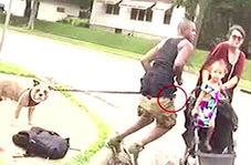 لحظه دنبال کردن مرد سیاهپوست قبل از کشته شدن توسط پلیس مینیاپولیس آمریکا