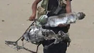 لاشه پهپاد سرنگون شده متجاوزان اماراتی در ساحل غربی یمن!