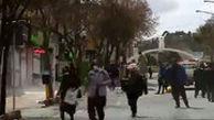 وضعیت یکی از شلوغترین خیابانهای سنندج!
